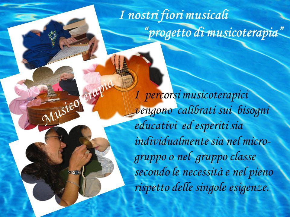 I percorsi musicoterapici vengono calibrati sui bisogni educativi ed esperiti sia individualmente sia nel micro- gruppo o nel gruppo classe secondo le necessità e nel pieno rispetto delle singole esigenze.