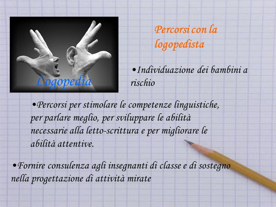 Percorsi per stimolare le competenze linguistiche, per parlare meglio, per sviluppare le abilità necessarie alla letto-scrittura e per migliorare le abilità attentive.