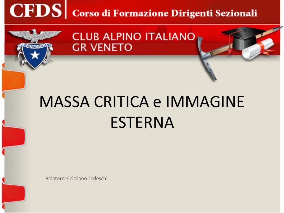 MASSA CRITICA e IMMAGINE ESTERNA Relatore: Cristiano Tedeschi