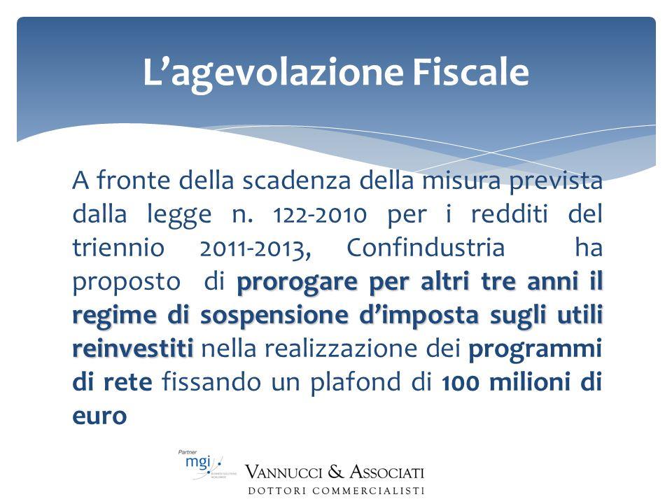 Lagevolazione Fiscale prorogare per altri tre anni il regime di sospensione dimposta sugli utili reinvestiti A fronte della scadenza della misura prev