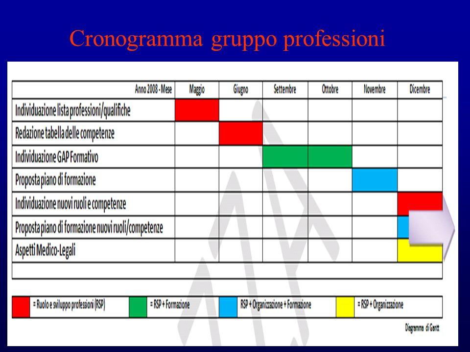 Cronogramma gruppo professioni