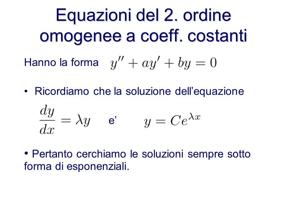 Equazioni del 2.ordine omogenee a coeff.
