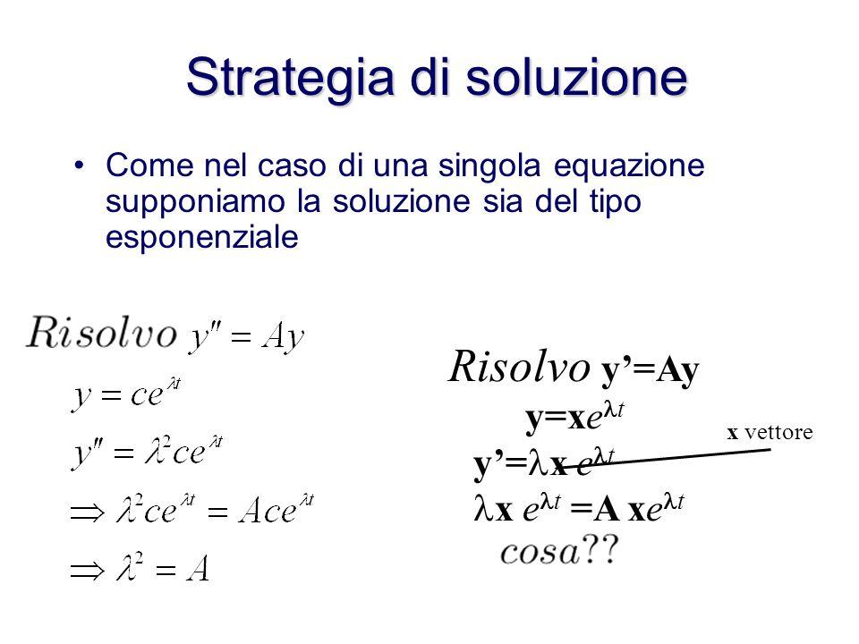 Esempio in forma matriciale e un sistema lineare omogeneo a coefficienti costanti
