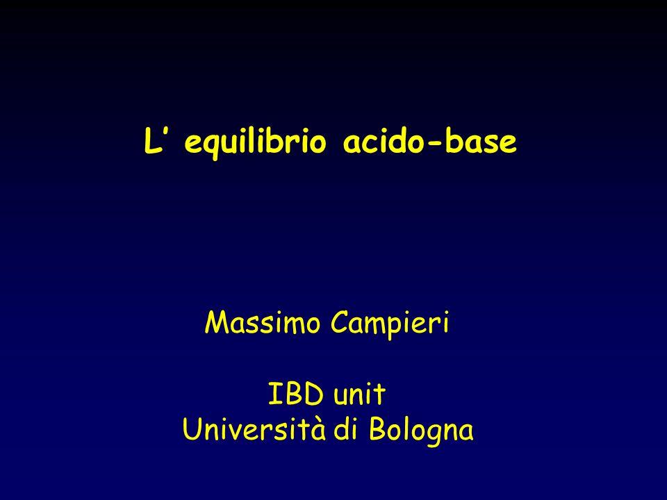 L equilibrio acido-base Massimo Campieri IBD unit Università di Bologna