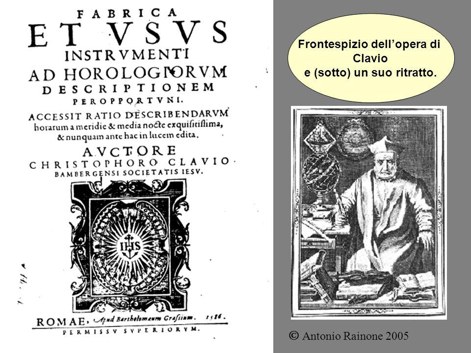 Frontespizio dellopera di Clavio e (sotto) un suo ritratto. Antonio Rainone 2005