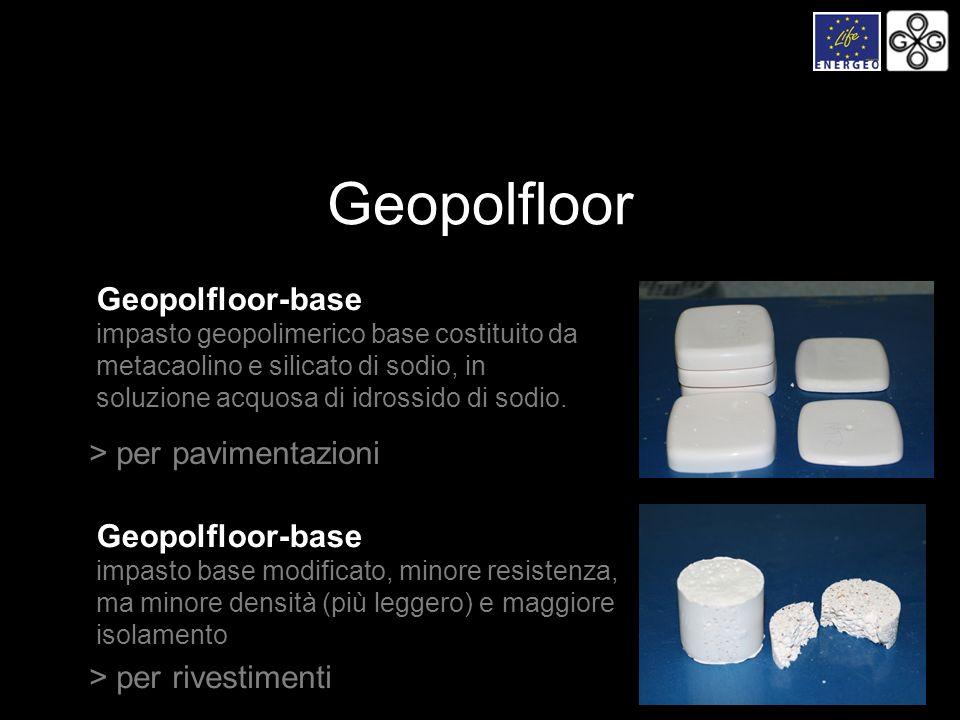 Geopolfloor-base impasto geopolimerico base costituito da metacaolino e silicato di sodio, in soluzione acquosa di idrossido di sodio. > per pavimenta
