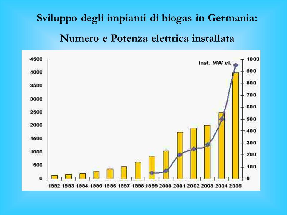 La Germania è il Paese europeo nel quale la digestione anaerobica ha avuto il maggior impulso. I dati al 2003, parlano di circa 2.000 impianti esisten