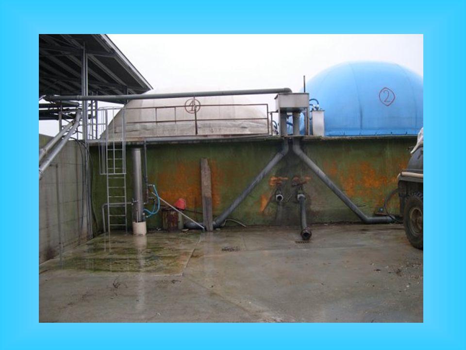 Schema di impianto di biogas semplificato con riscaldamento La produzione di metano ottenibile è di circa 21 m 3 /anno per 100 kg di peso vivo suino (