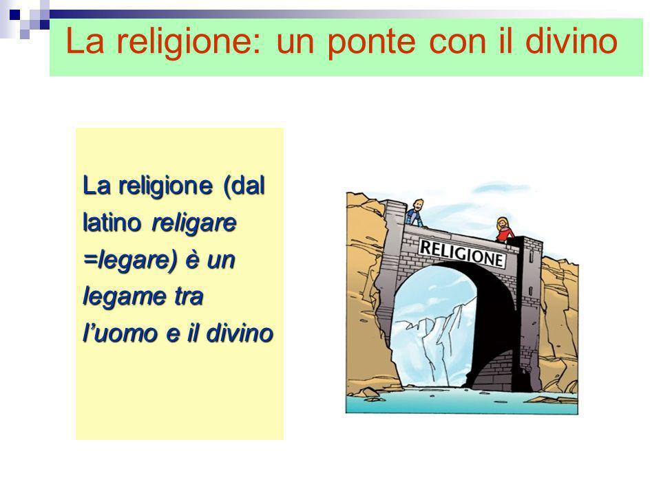 La religione (dal latino religare =legare) è un legame tra luomo e il divino La religione: un ponte con il divino