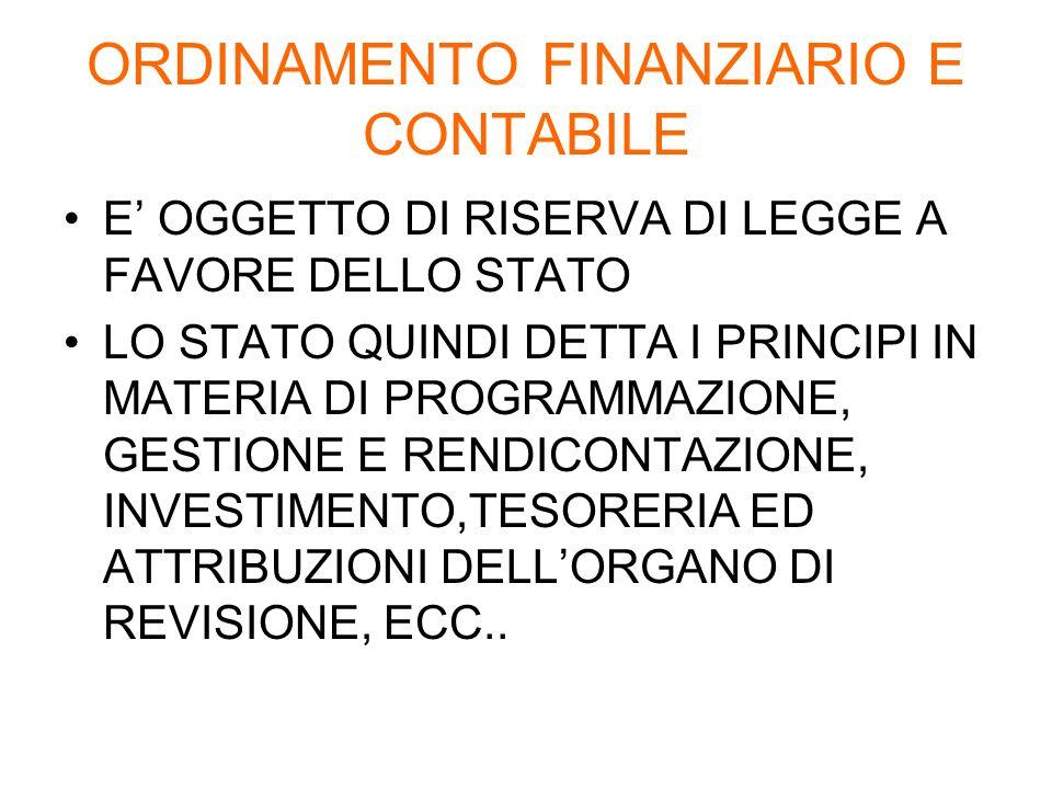 PUBBLICITA Il Bilancio deve essere portato a conoscenza dei cittadini e degli organismi di partecipazione.