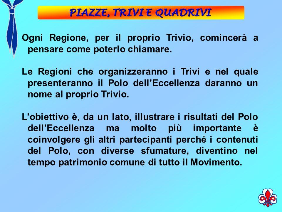 Ogni Regione, per il proprio Trivio, comincerà a pensare come poterlo chiamare.