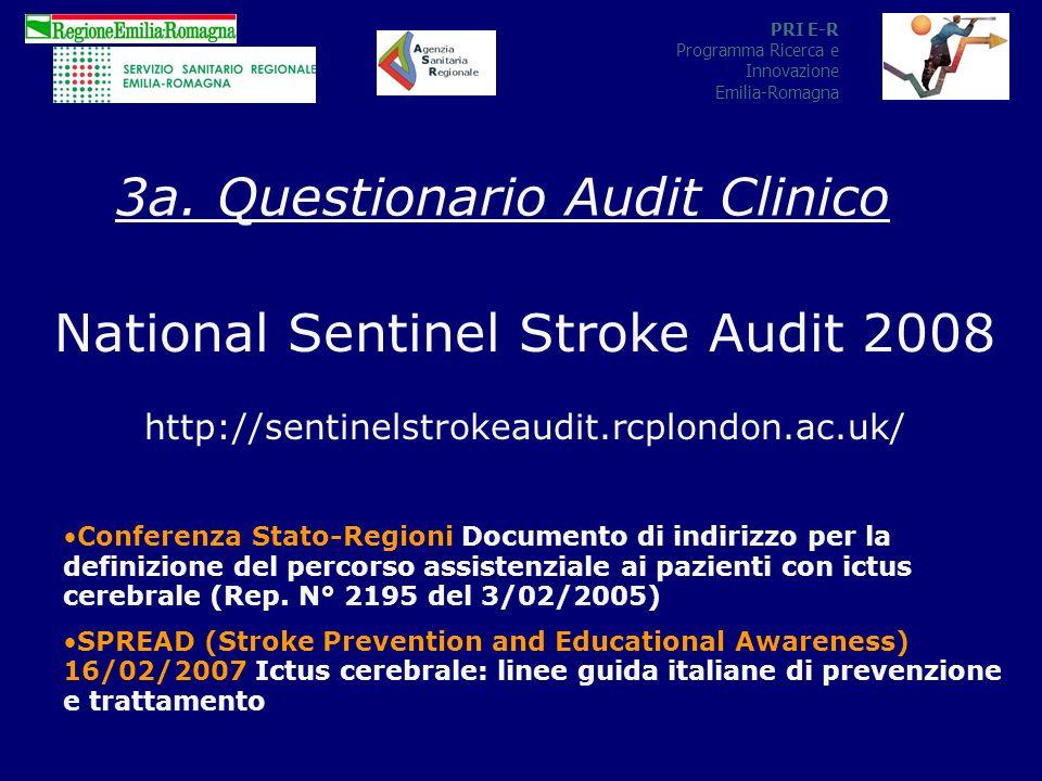 PRI E-R Programma Ricerca e Innovazione Emilia-Romagna National Sentinel Stroke Audit 2008 http://sentinelstrokeaudit.rcplondon.ac.uk/ 3a.