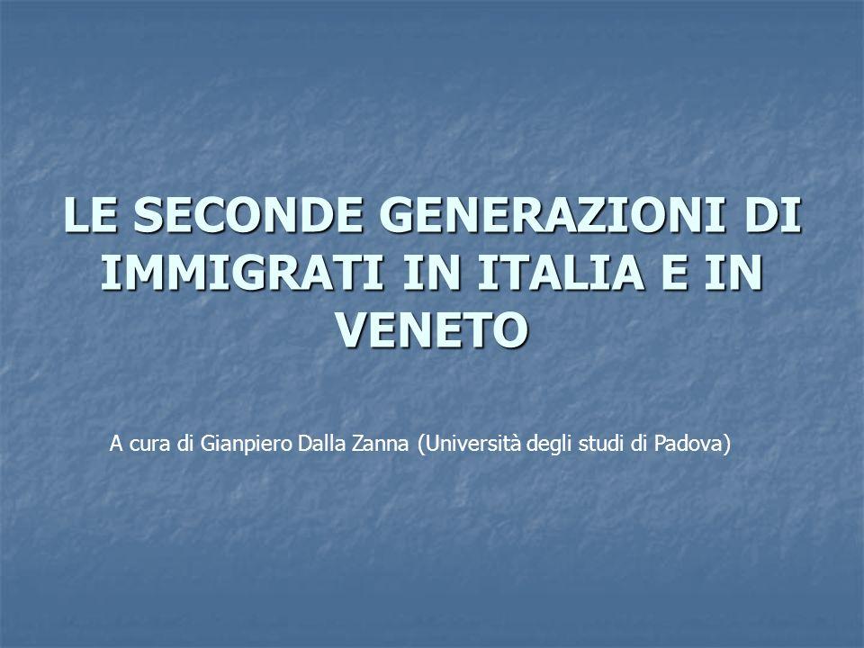 LE SECONDE GENERAZIONI DI IMMIGRATI IN ITALIA E IN VENETO A cura di Gianpiero Dalla Zanna (Università degli studi di Padova)