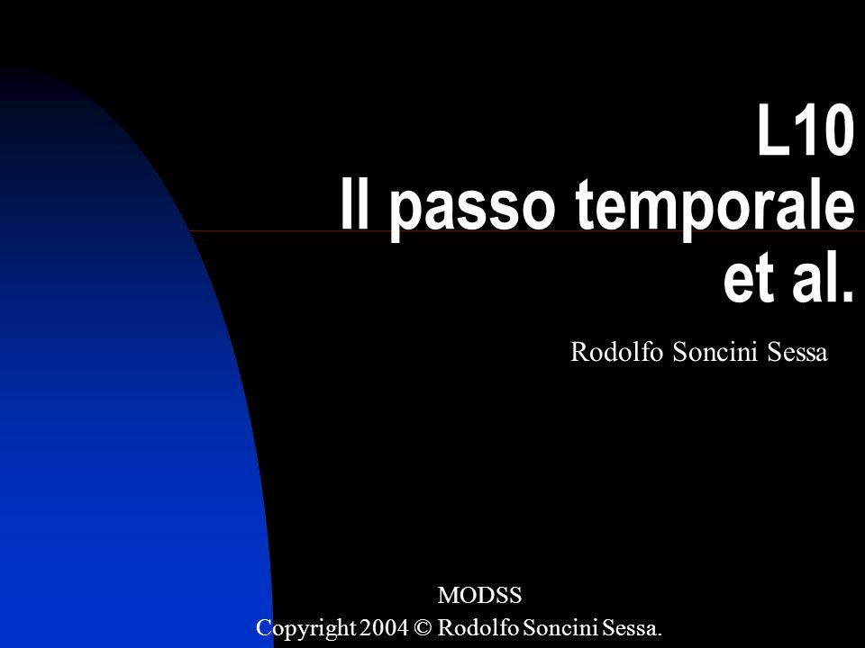R. Soncini-Sessa, MODSS, 2004 1 L10 Il passo temporale et al. Rodolfo Soncini Sessa MODSS Copyright 2004 © Rodolfo Soncini Sessa.