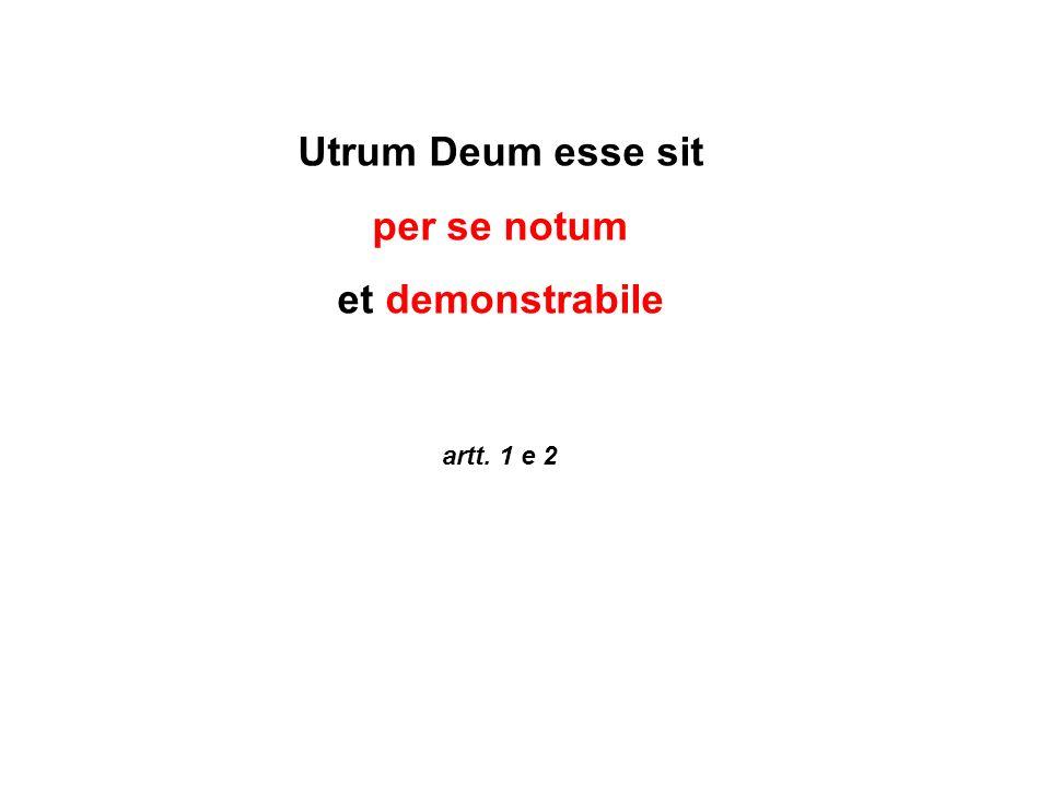 Utrum Deum esse sit per se notum et demonstrabile artt. 1 e 2