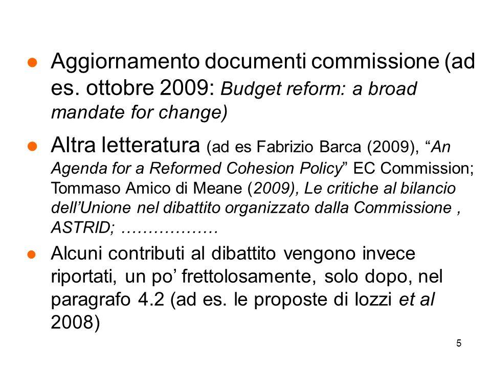 5 l Aggiornamento documenti commissione (ad es.