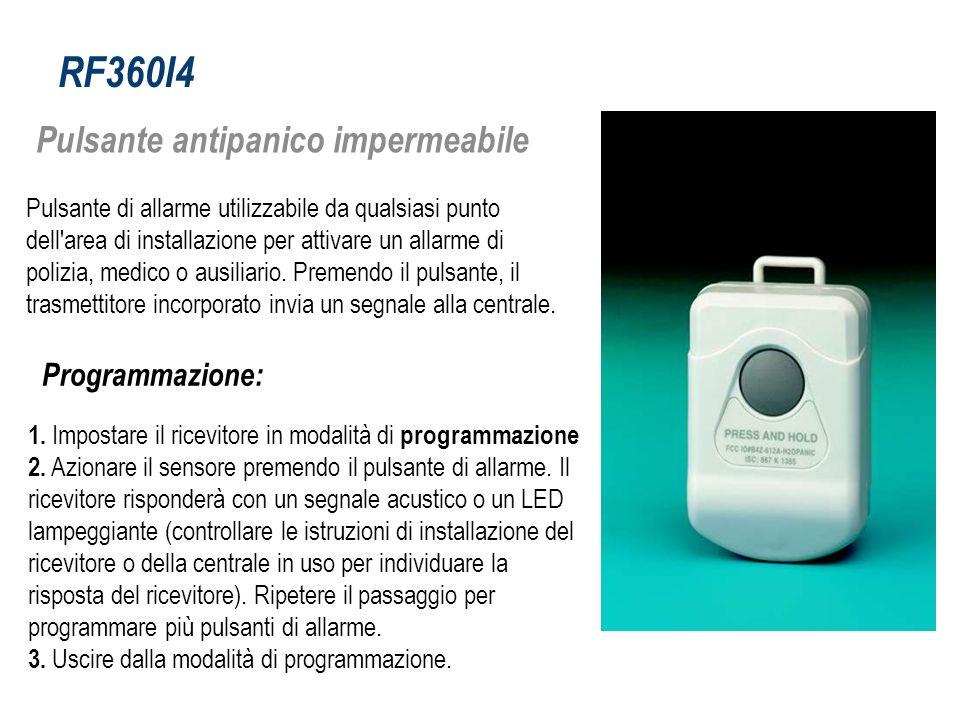 Pulsante antipanico impermeabile RF360I4 Pulsante di allarme utilizzabile da qualsiasi punto dell'area di installazione per attivare un allarme di pol