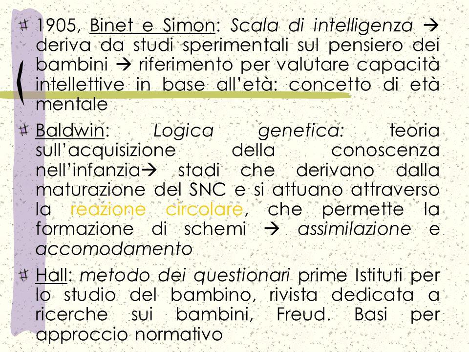 Origini scientifiche della psicologia dello sviluppo: 1859 - 1914 1859, Darwin: Lorigine delle specie uomo nella natura; origini biologiche della natu