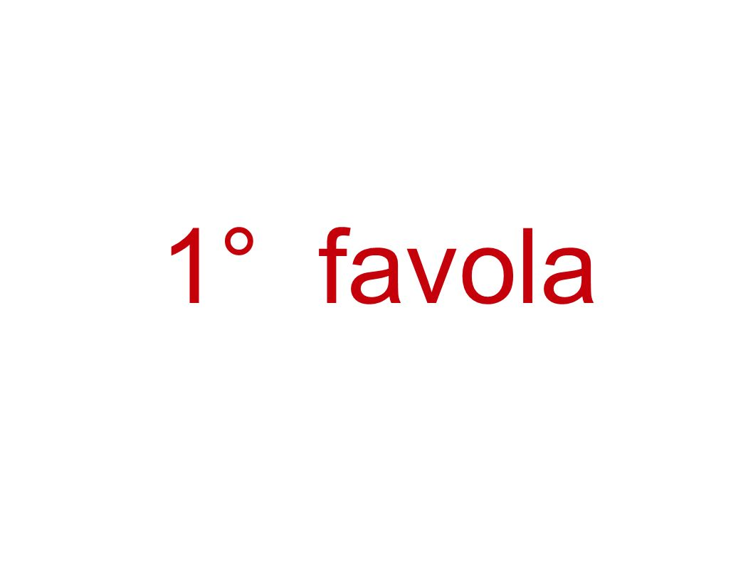 2° favola