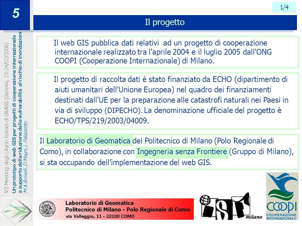 Il progetto di raccolta dati è stato finanziato da ECHO (dipartimento di aiuti umanitari dell'Unione Europea) nel quadro dei finanziamenti destinati d