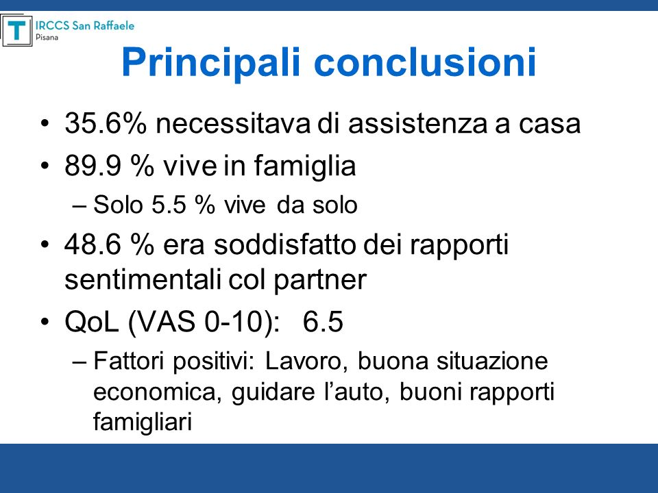 Spinal Cord advance online publication, 29 November 2011 ORIGINAL ARTICLE Occurrence and predictors of employment after traumatic spinal cord injury: the GISEM Study M Franceschini, MC Pagliacci, T Russo, G Felzani, S Aito and C Marini, on behalf GISEM II Study design: Multicenter, prospective study.