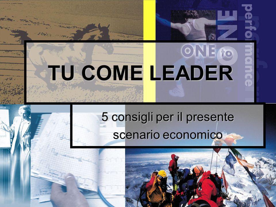 22 TU COME LEADER 5 consigli per il presente scenario economico