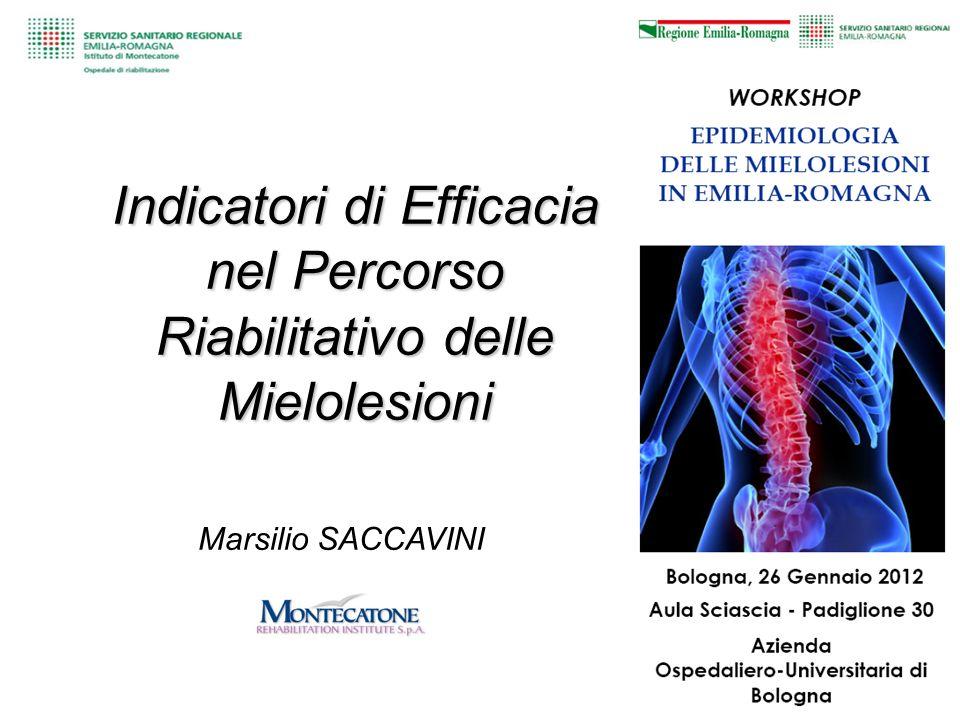 Marsilio SACCAVINI Indicatori di Efficacia nel Percorso Riabilitativo delle Mielolesioni