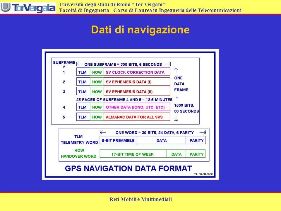 Università degli studi di Roma Tor Vergata Facoltà di Ingegneria - Corso di Laurea in Ingegneria delle Telecomunicazioni Reti Mobili e Multimediali Da