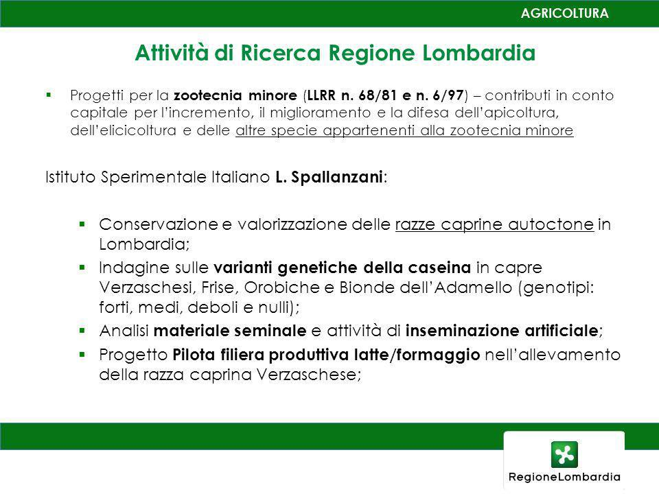 Progetti per la zootecnia minore ( LLRR n.68/81 e n.