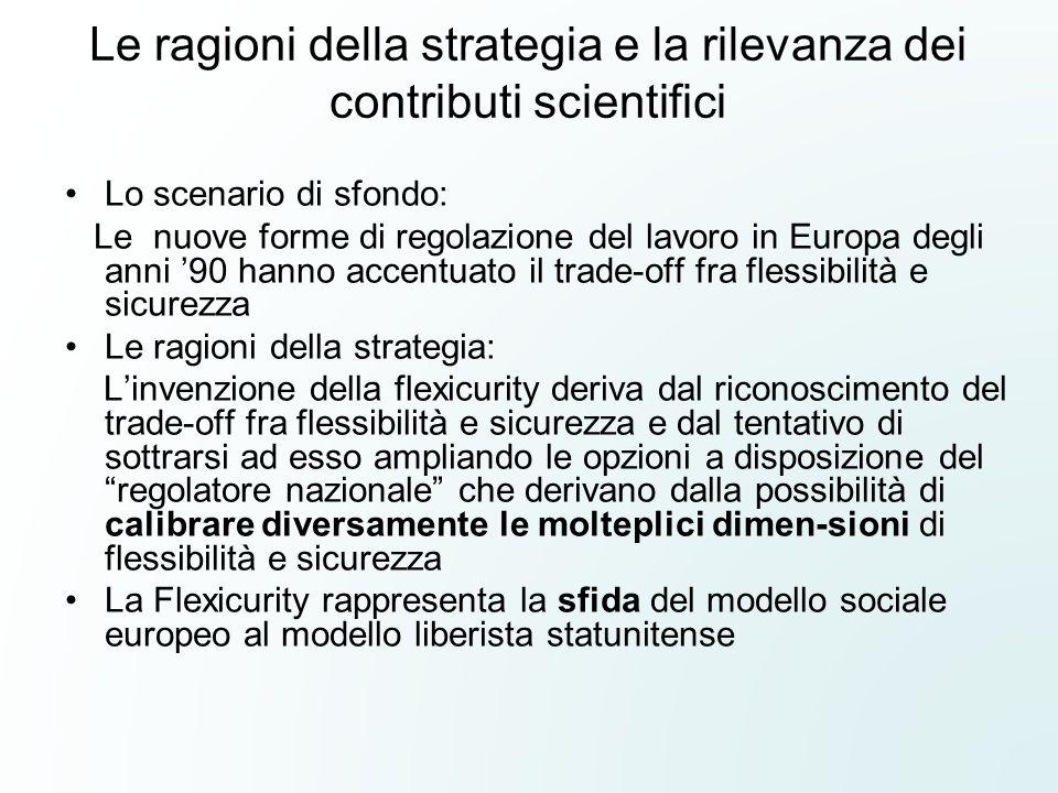 Le ragioni della strategia e la rilevanza dei contributi scientifici Lo scenario di sfondo: Le nuove forme di regolazione del lavoro in Europa degli a