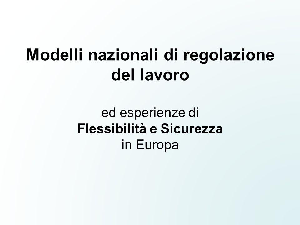 Modelli nazionali di regolazione del lavoro ed esperienze di Flessibilità e Sicurezza in Europa