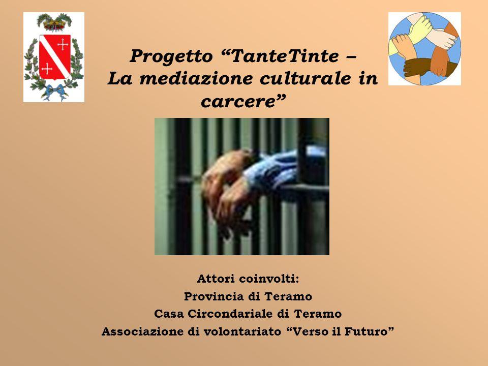Progetto TanteTinte – La mediazione culturale in carcere Attori coinvolti: Provincia di Teramo Casa Circondariale di Teramo Associazione di volontaria