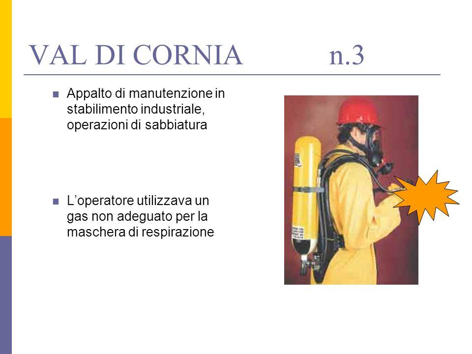 Appalto di manutenzione in stabilimento industriale, operazioni di sabbiatura Loperatore utilizzava un gas non adeguato per la maschera di respirazion