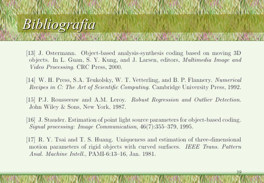 39 Bibliografia
