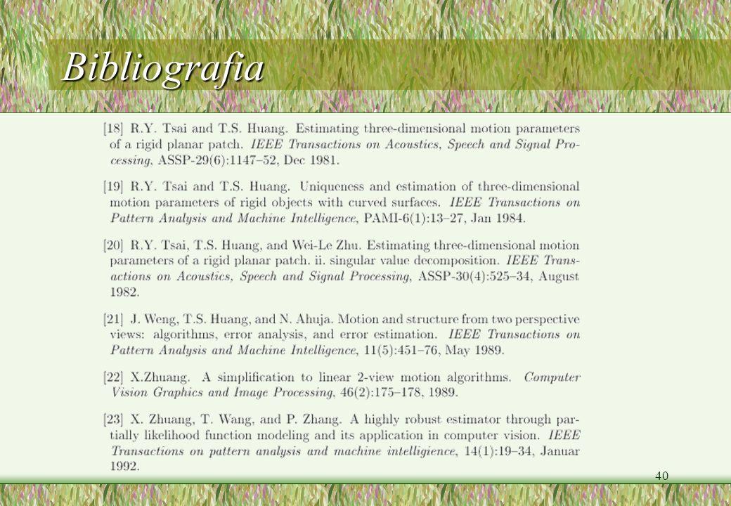 40 Bibliografia
