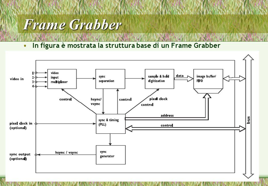 42 Frame Grabber In figura è mostrata la struttura base di un Frame Grabber