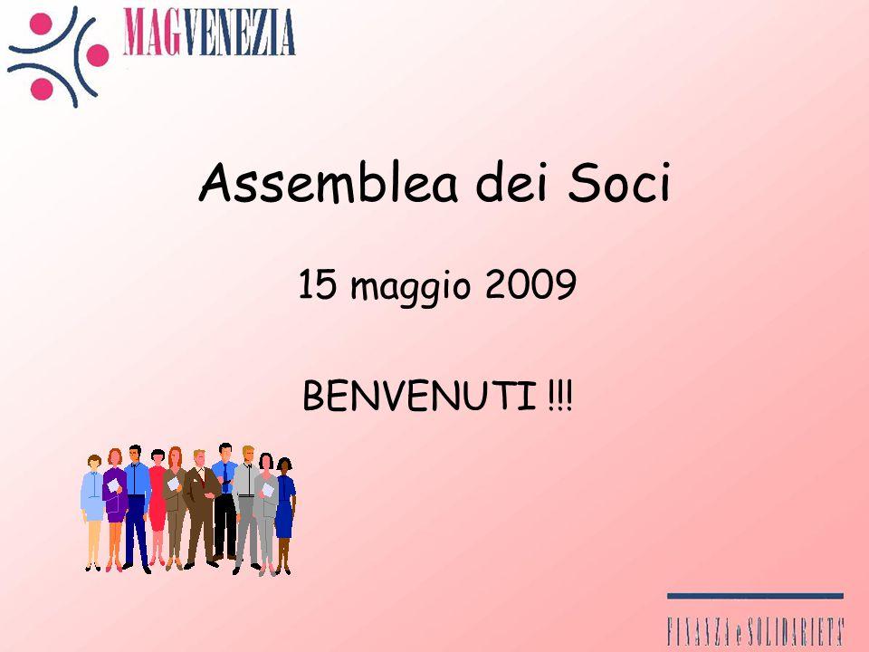 Assemblea dei Soci 15 maggio 2009 BENVENUTI !!!