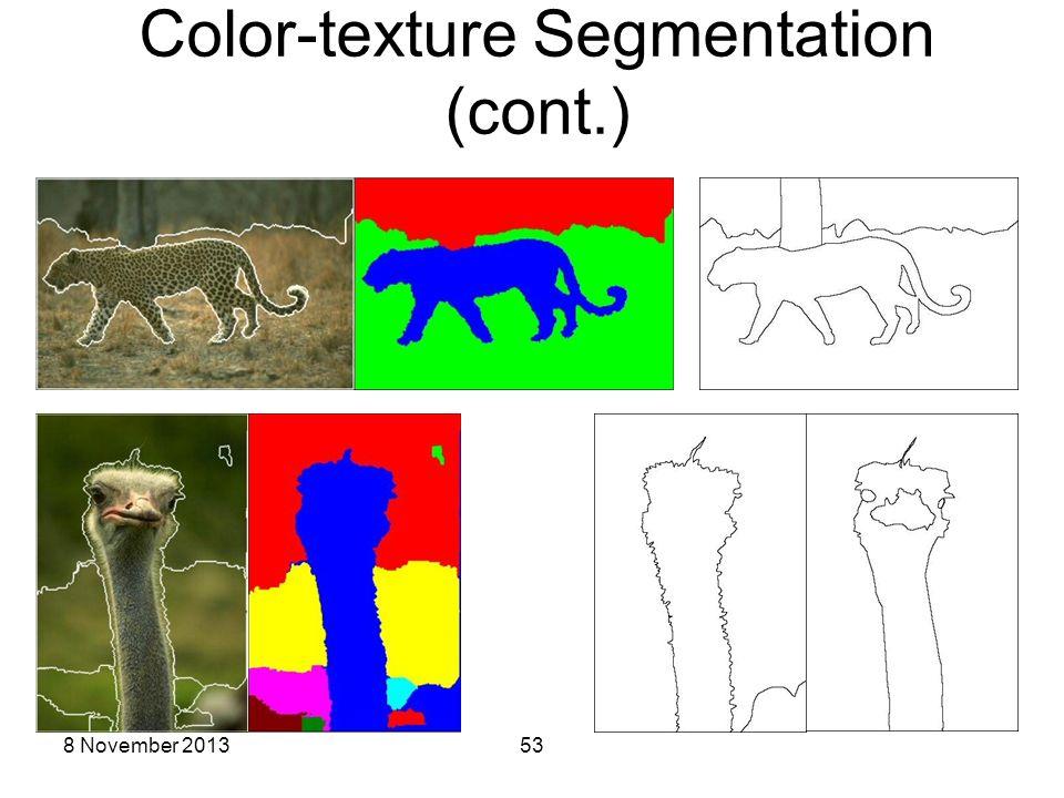 8 November 201353 Color-texture Segmentation (cont.) #134052 #66075