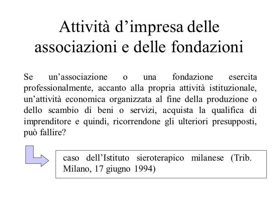 Attività dimpresa delle associazioni e delle fondazioni Se unassociazione o una fondazione esercita professionalmente, accanto alla propria attività i