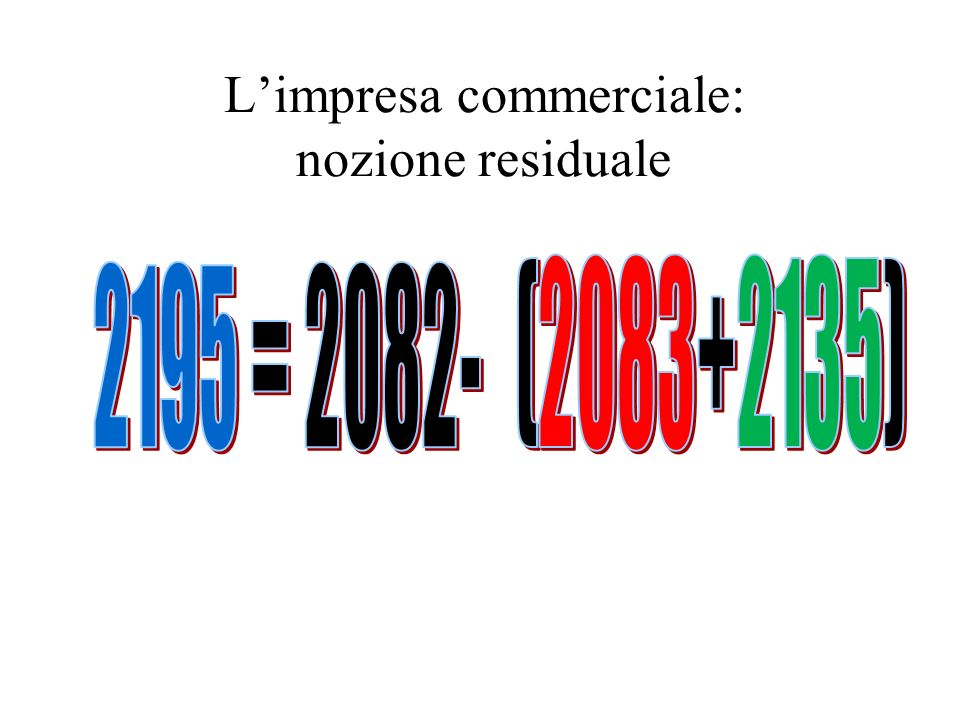 Limpresa commerciale: nozione residuale