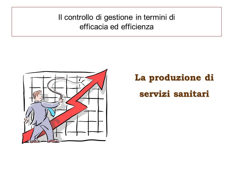 Il controllo di gestione in termini di efficacia ed efficienza La produzione di servizi sanitari