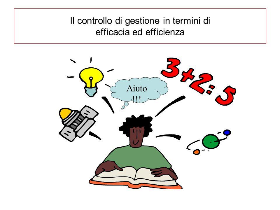 Il controllo di gestione in termini di efficacia ed efficienza Aiuto !!!