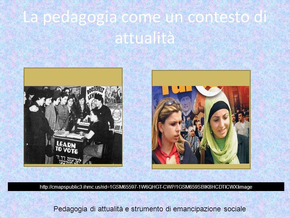 La pedagogia come un contesto di attualità http://cmapspublic3.ihmc.us/rid=1GSM65597-1W6QHGT-CWP/1GSM659SBIK8HCDTICWXIimage Pedagogia di attualità e s