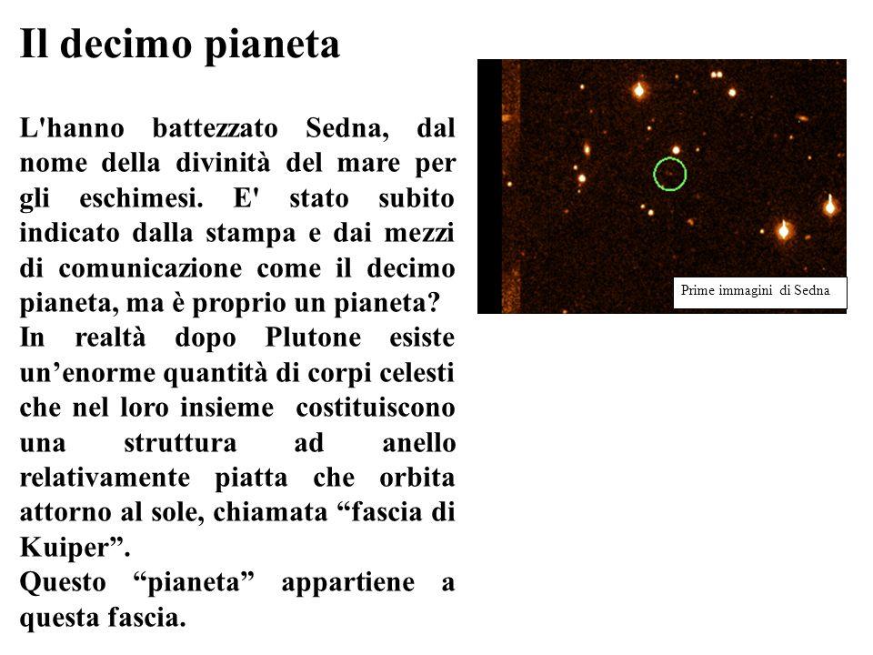 Il decimo pianeta L'hanno battezzato Sedna, dal nome della divinità del mare per gli eschimesi. E' stato subito indicato dalla stampa e dai mezzi di c