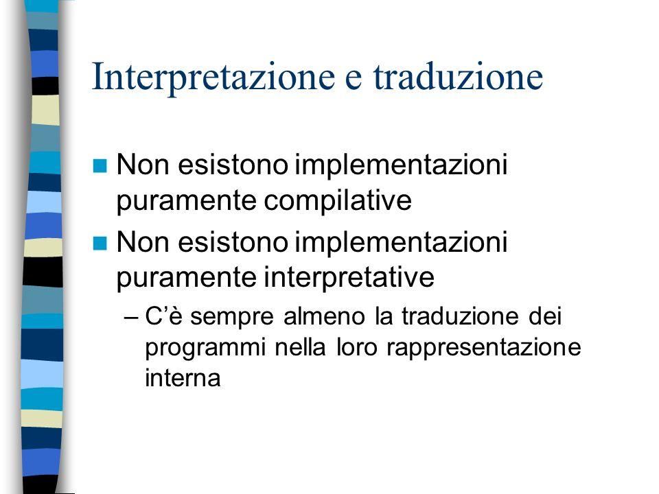Macchine intermedie e supporto a tempo di esecuzione Macchina intermedia = supporto a tempo di esecuzione + macchina ospite Si identifica valutando –E