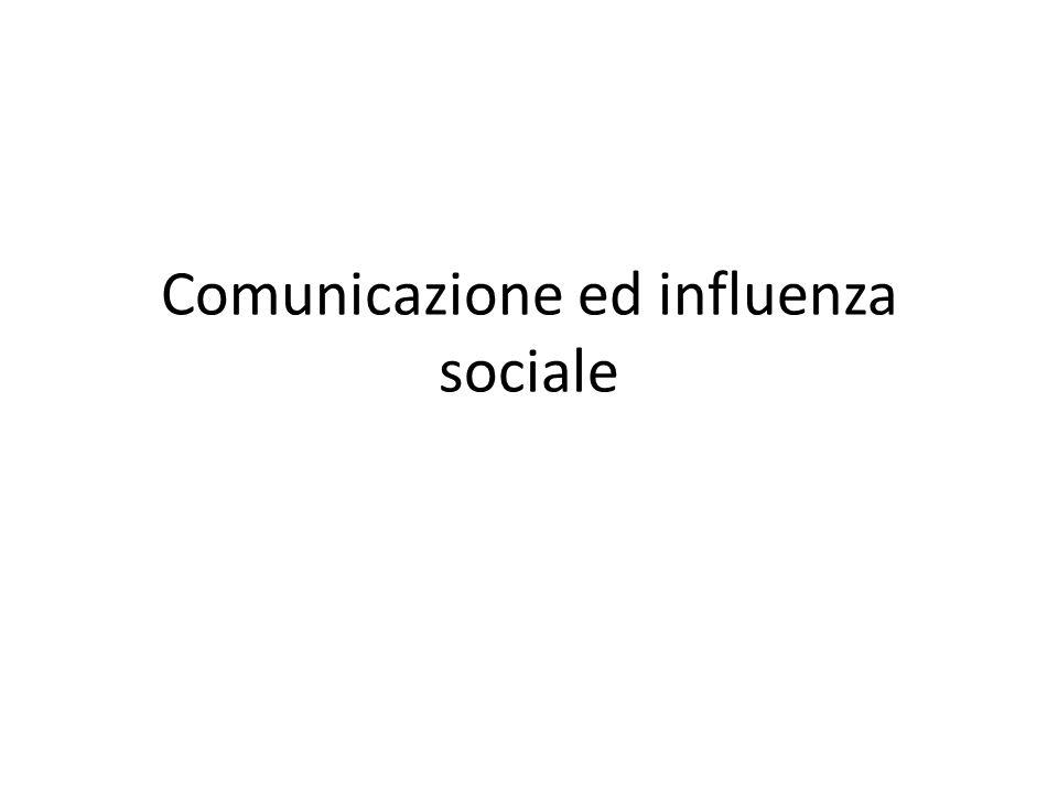 Comunicazione ed influenza sociale