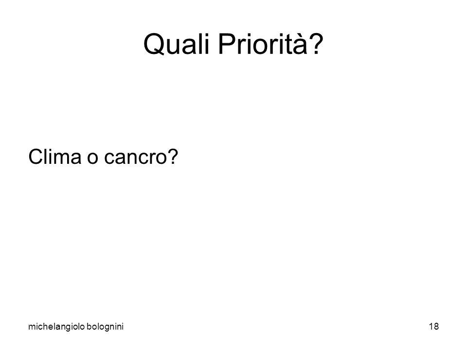 michelangiolo bolognini18 Quali Priorità? Clima o cancro?