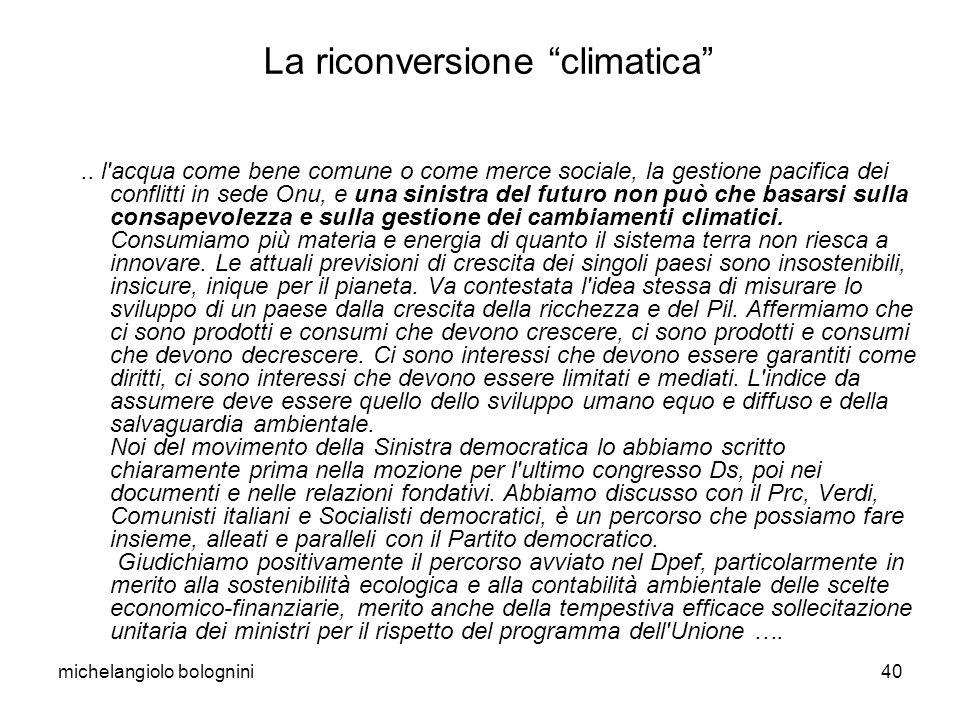 michelangiolo bolognini40 La riconversione climatica..