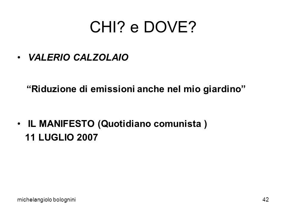 michelangiolo bolognini42 CHI. e DOVE.