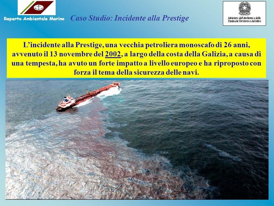 Lincidente alla Prestige, una vecchia petroliera monoscafo di 26 anni, avvenuto il 13 novembre del 2002, a largo della costa della Galizia, a causa di